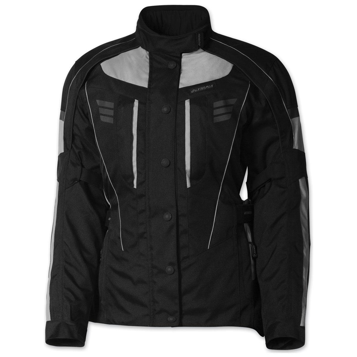 Olympia Moto Sports Women's Durham Silver Jacket