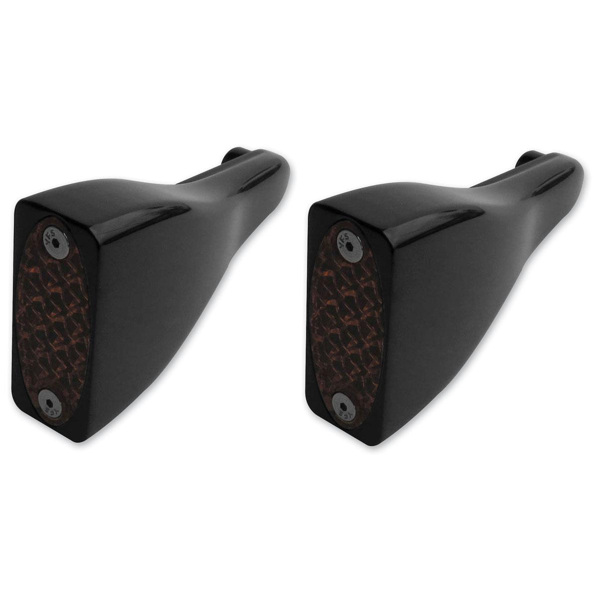 Pro-One Billet Black LED Front Turn Signals