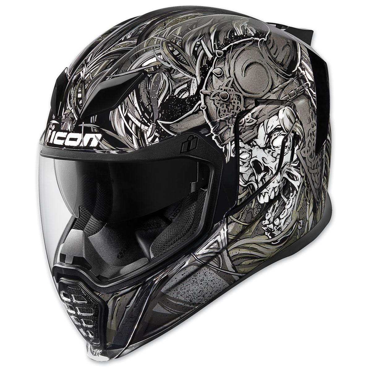 ICON Airflite Krom Black Full Face Helmet