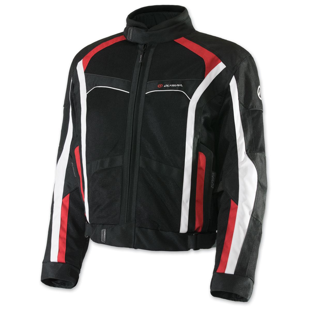 Olympia Moto Sports Men's Hudson Red Jacket