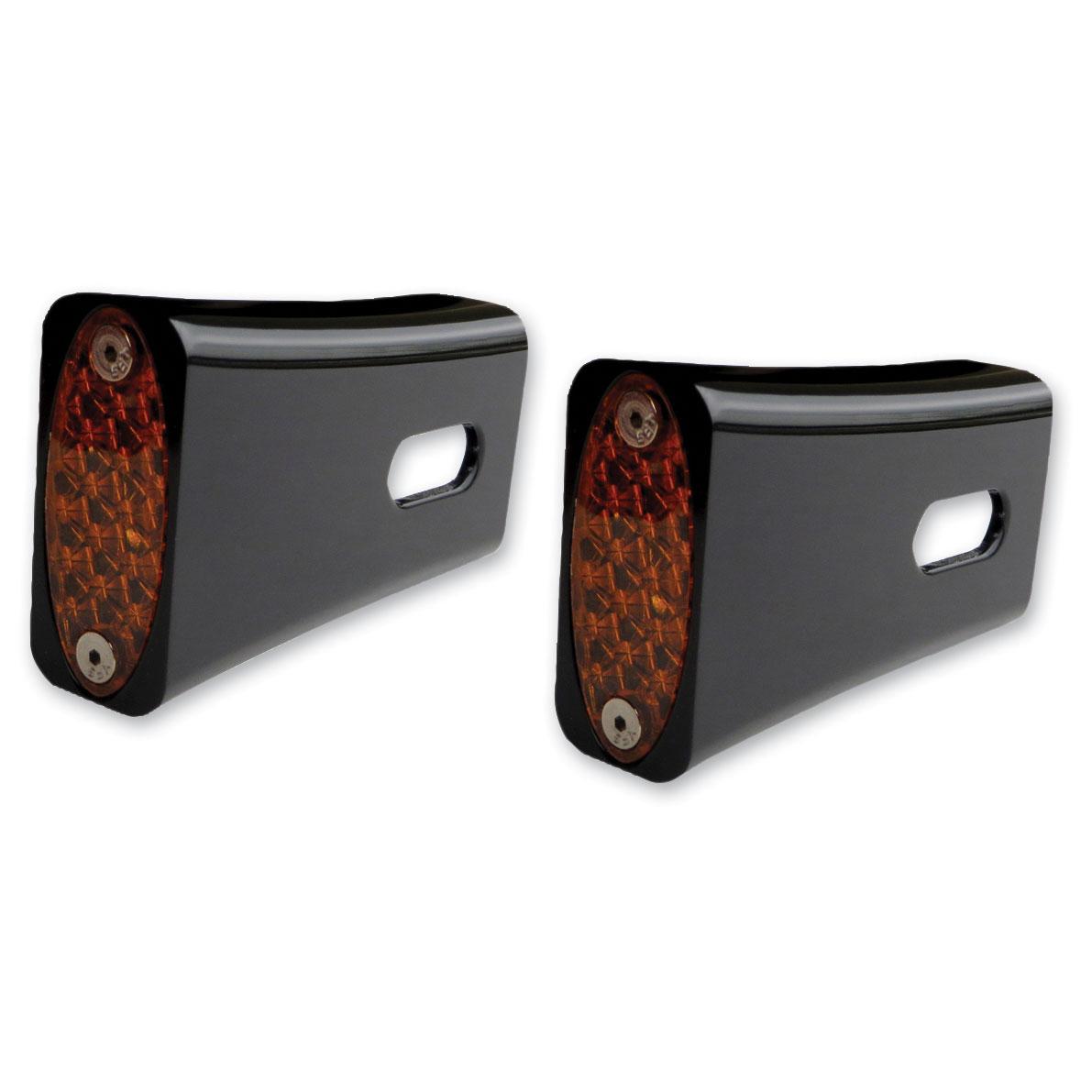 Pro-One Black Fender Strut Amber LED Marker Lights