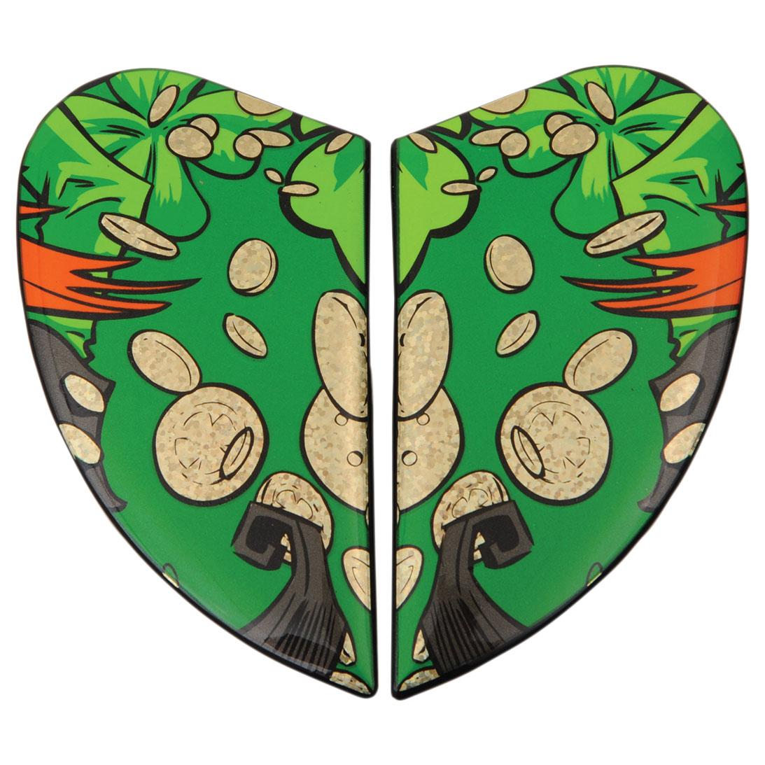 ICON Airmada Lepricon Green Sideplates