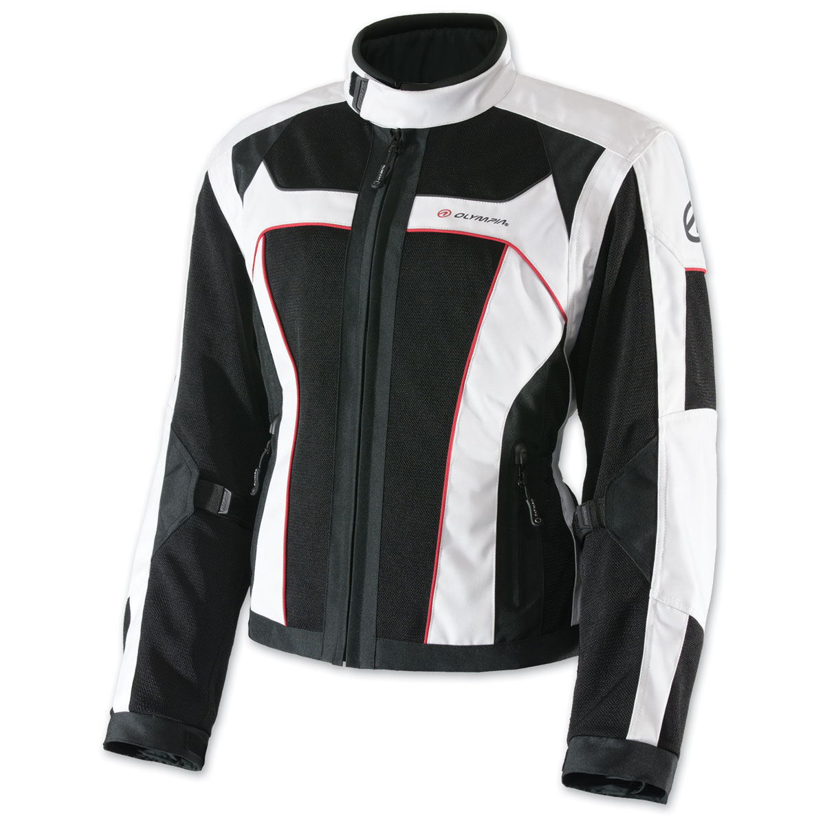 Olympia Moto Sports Women's Eve Mesh Tech White Jacket