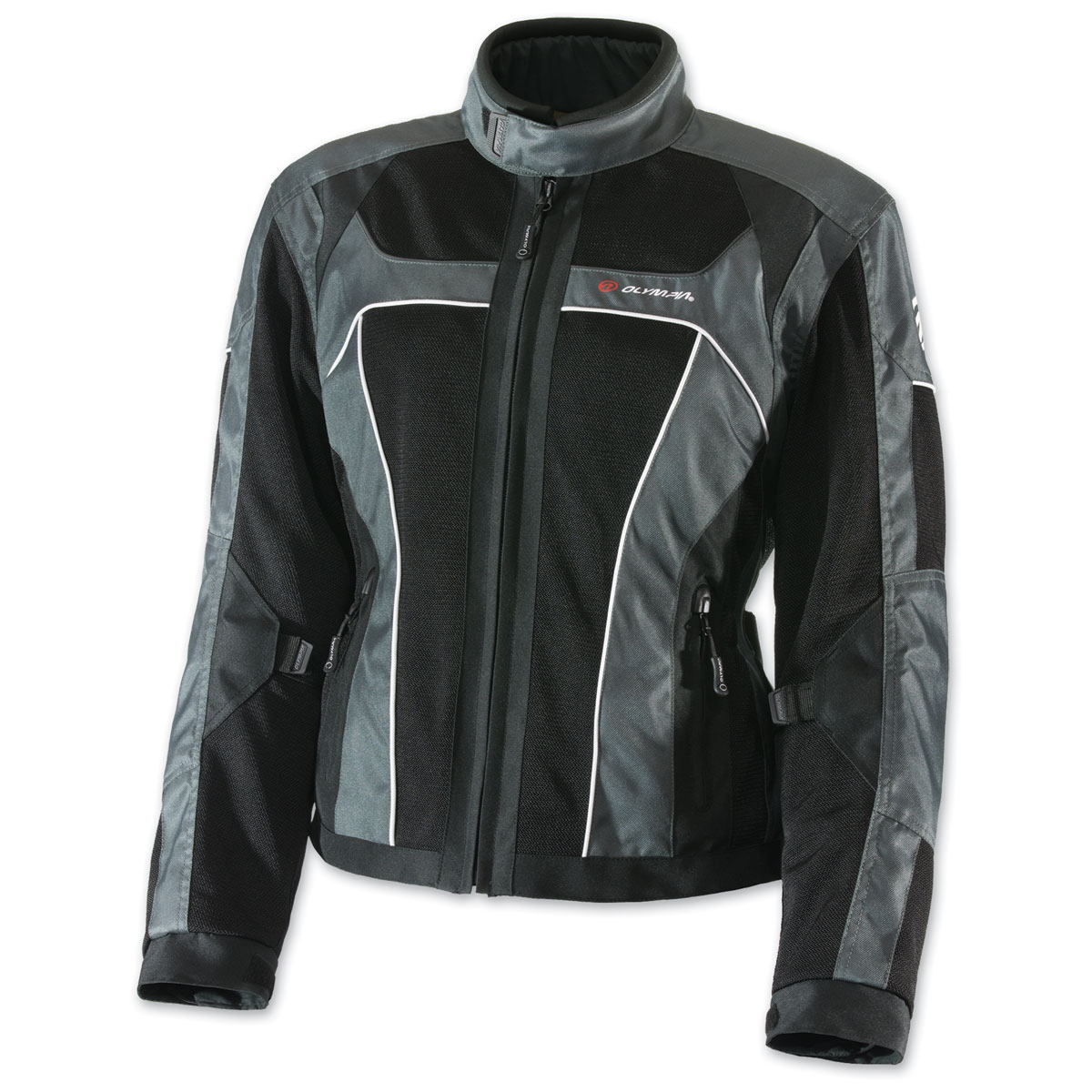 Olympia Moto Sports Women's Eve Mesh Tech Gray Jacket