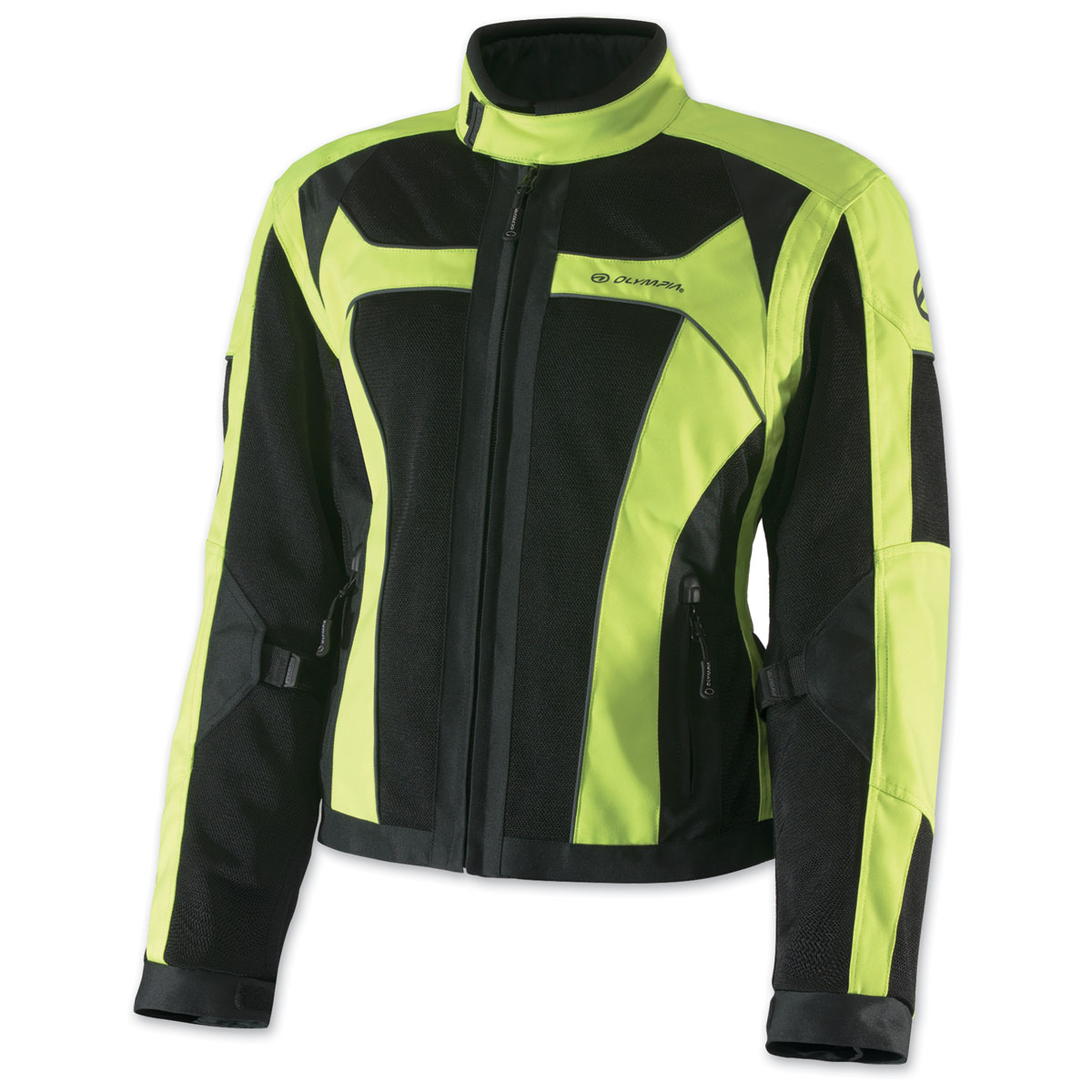 Olympia Moto Sports Women's Eve Mesh Tech Neon Yellow Jacket