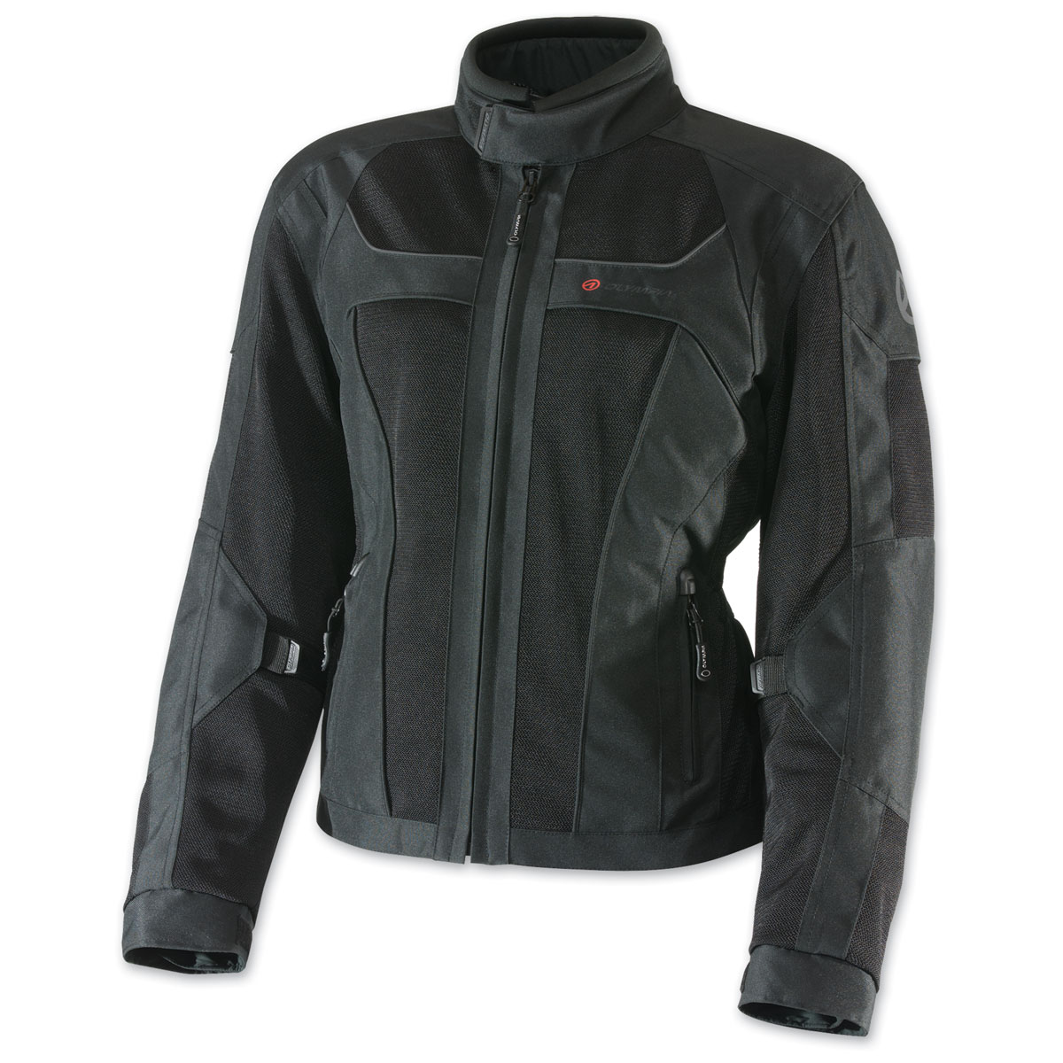 Olympia Moto Sports Women's Eve Mesh Tech Black Jacket