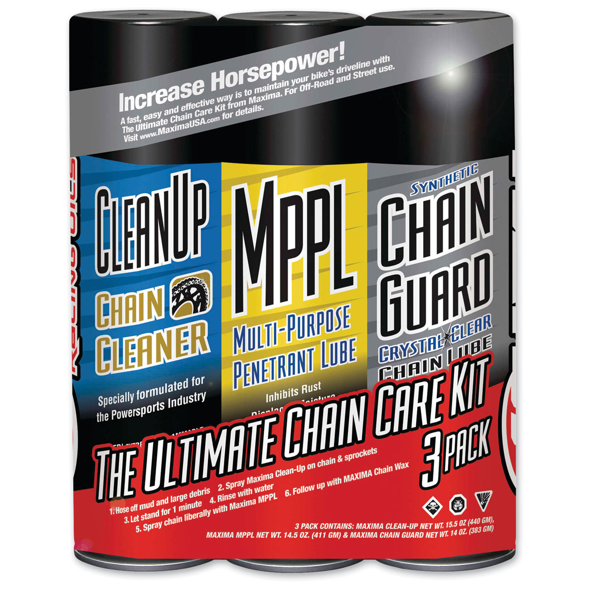 Maxima Synthetic Chain Guard Ultimate Chain Care Kit