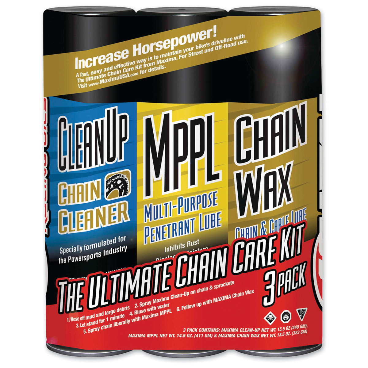 Maxima Chain Wax Ultimate Chain Care Kit