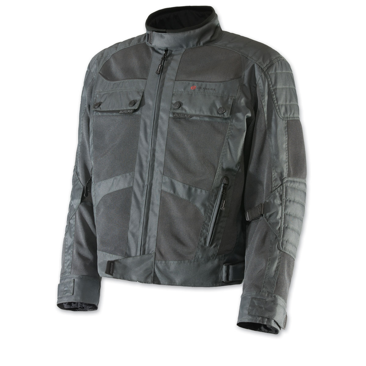 Olympia Moto Sports Men's Bradley Mesh Tech Gray Jacket