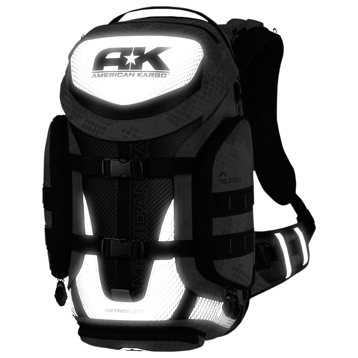 American Kargo Backpack Trooper Black Refl
