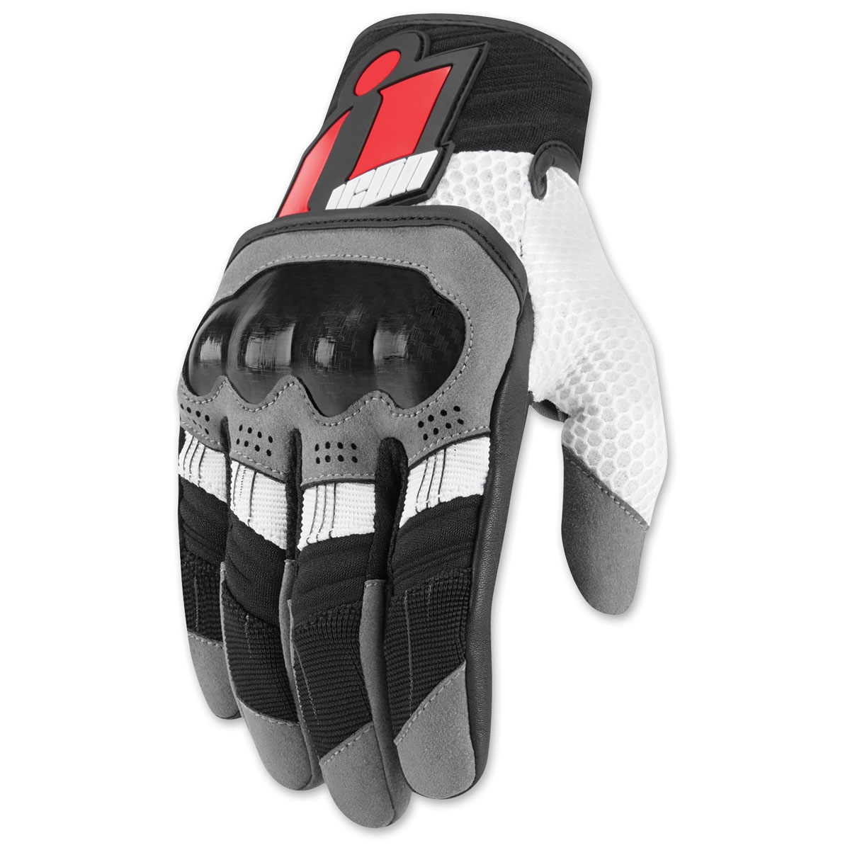 ICON Men's Overlord Red Gloves