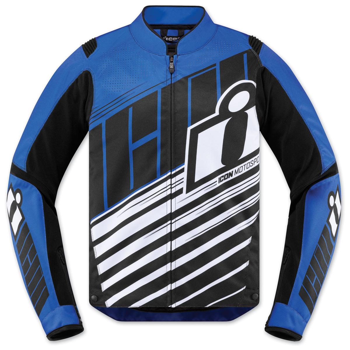 ICON Men's Overlord SB2 Blue Jacket