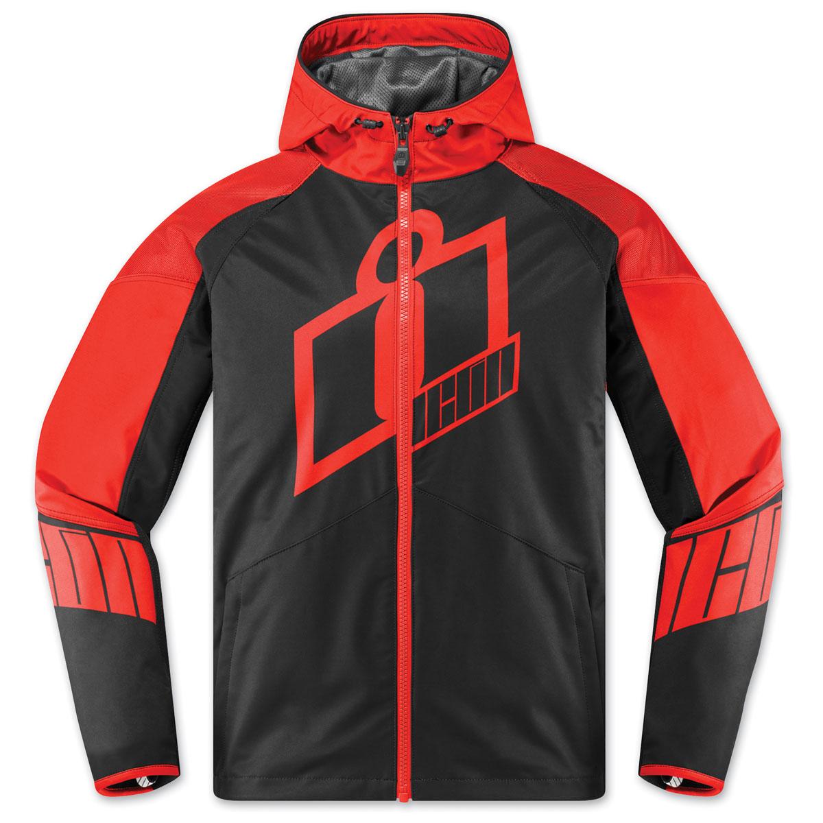 ICON Men's Merc Crusader Red Jacket