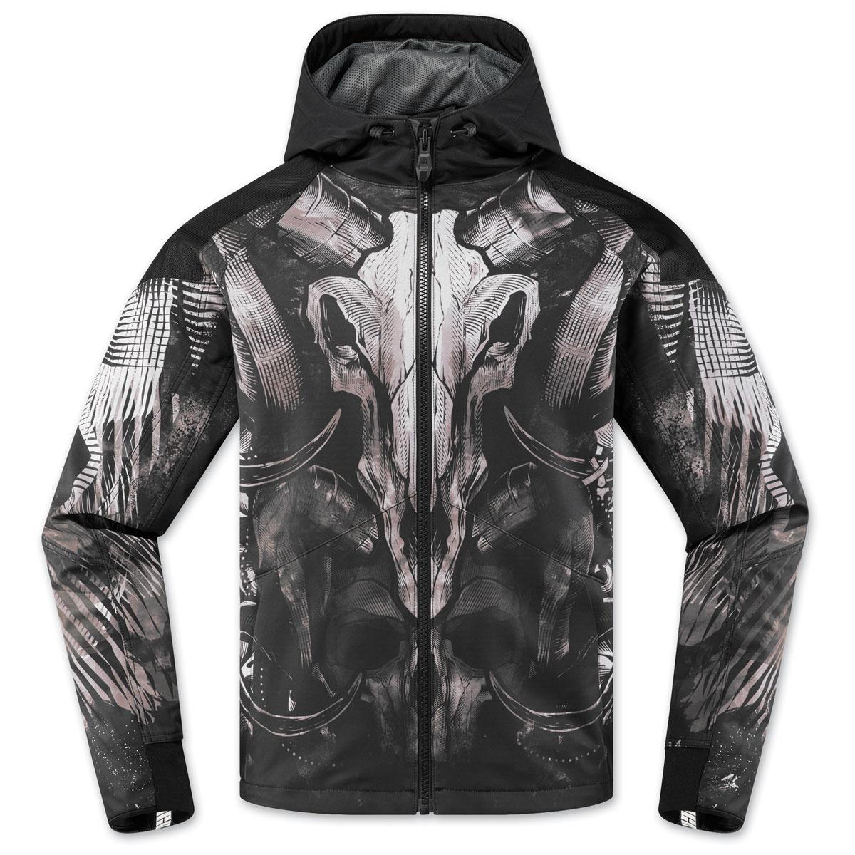 ICON Men's Merc Cloven Black Jacket
