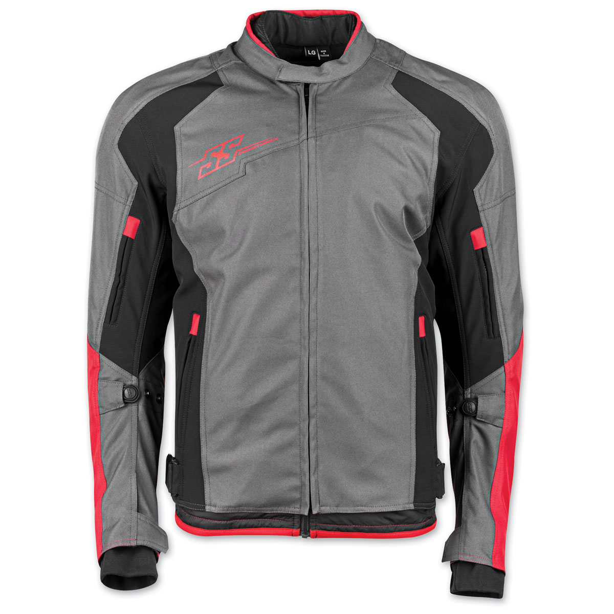 Speed and Strength Men's Sure Shot Gray/Red Textile Jacket