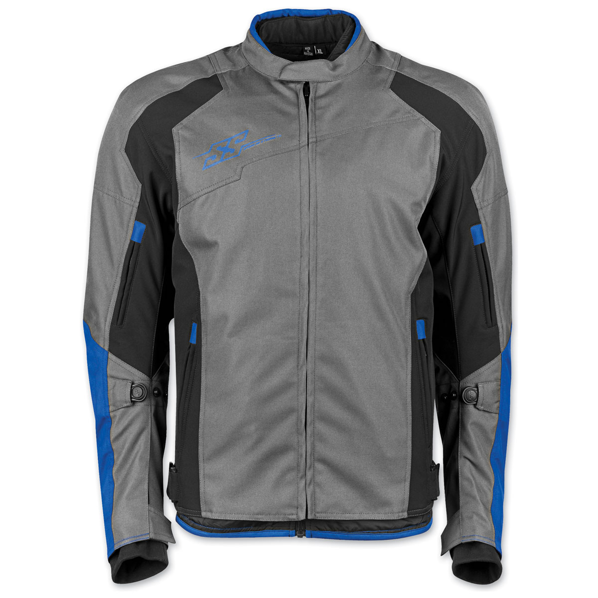 Speed and Strength Men's Sure Shot Gray/Blue Textile Jacket