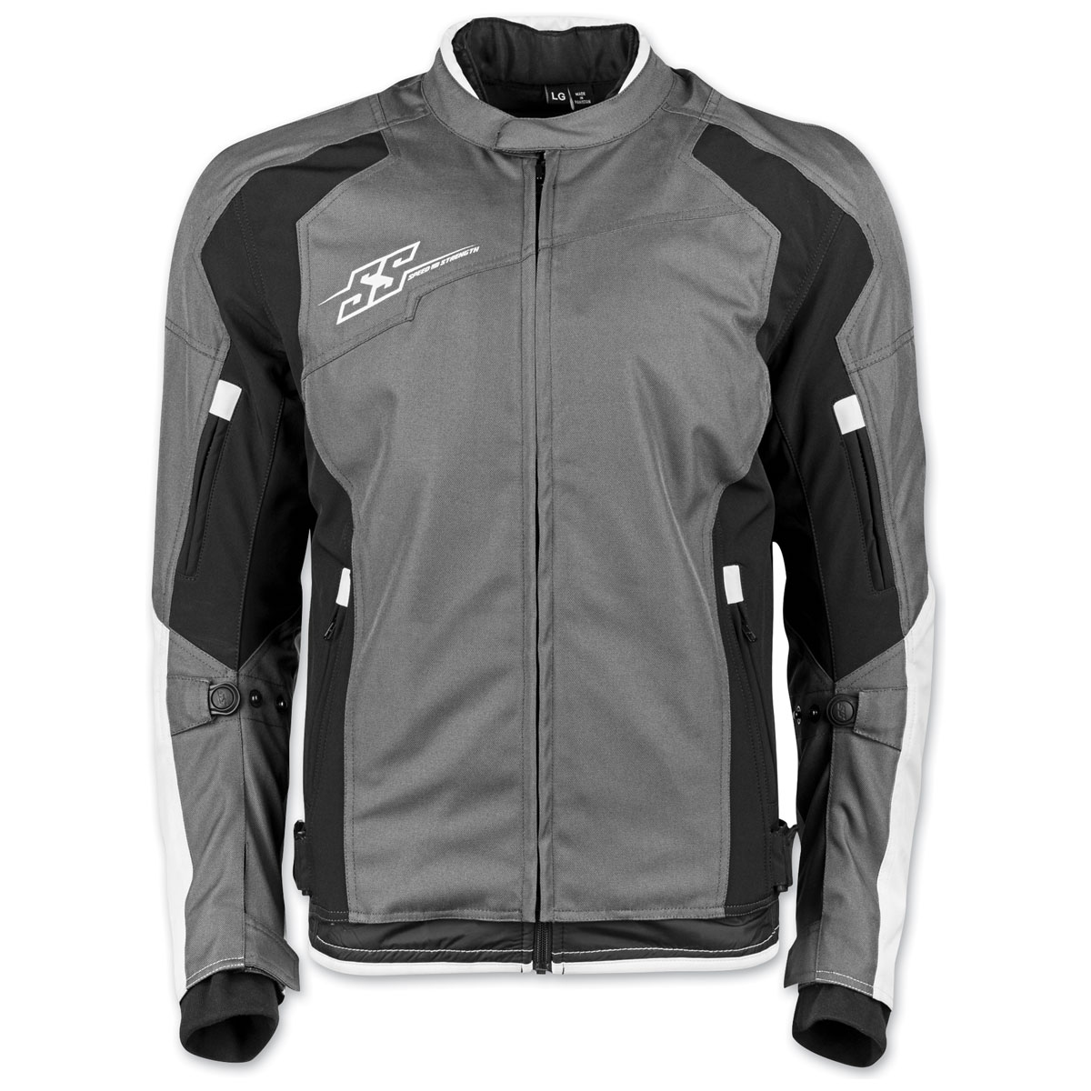Speed and Strength Men's Sure Shot Gray/White Textile Jacket