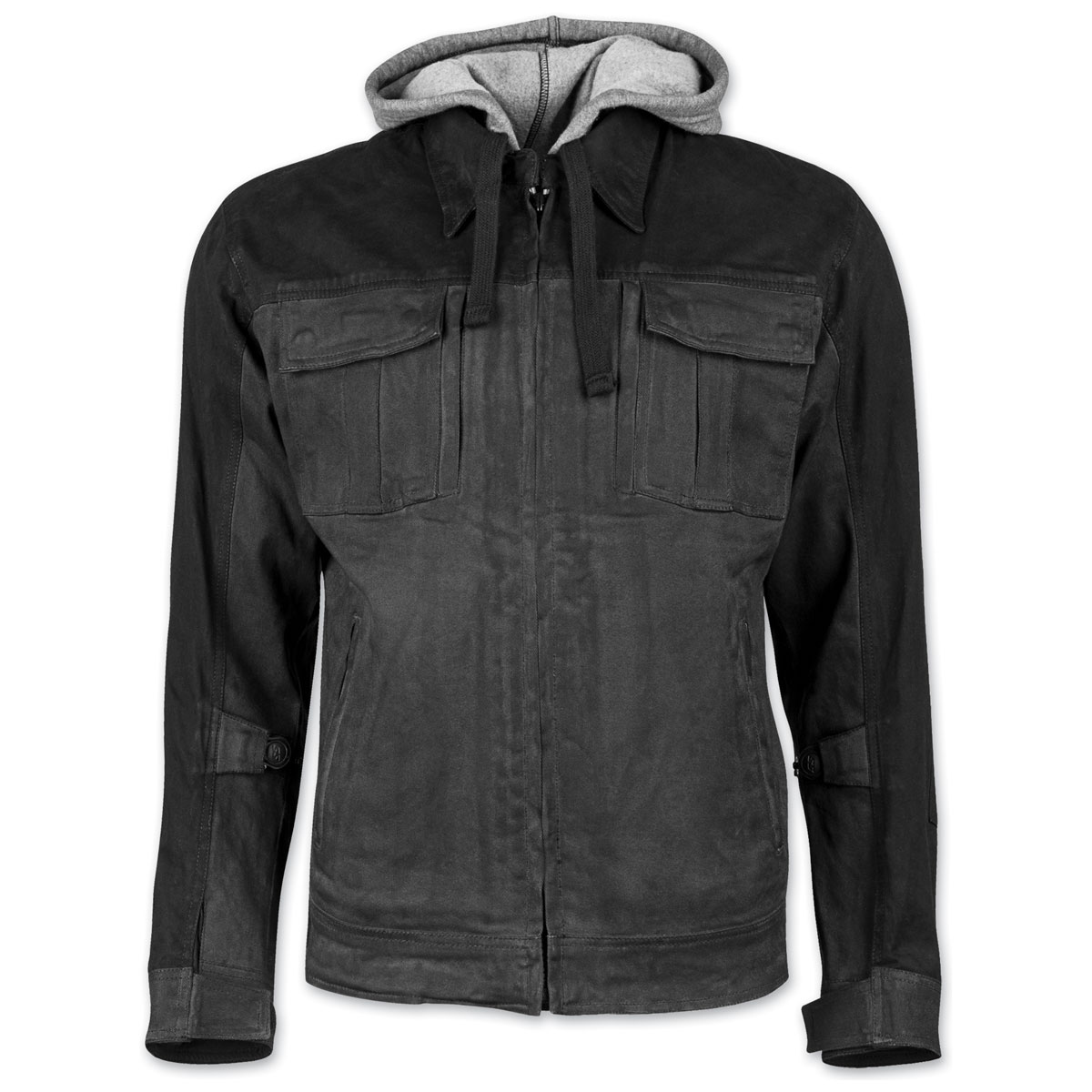 Speed and Strength Men's Rough Neck Charcoal Waxed Canvas Jacket