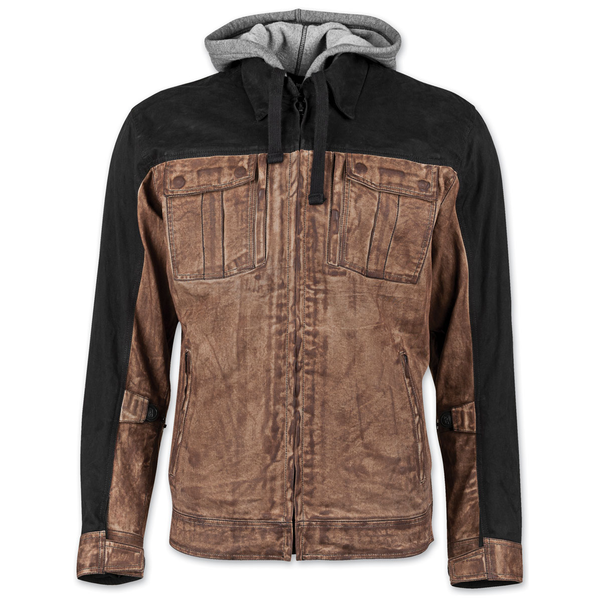 Speed and Strength Men's Rough Neck Brown Waxed Canvas Jacket