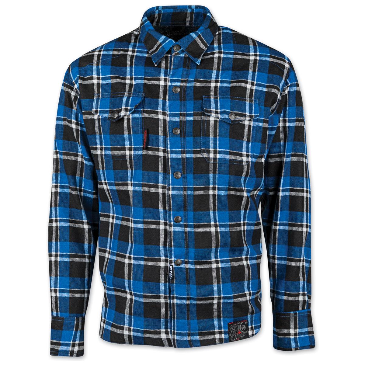 Speed and Strength Men's Black Nine Blue Flannel Moto Jacket