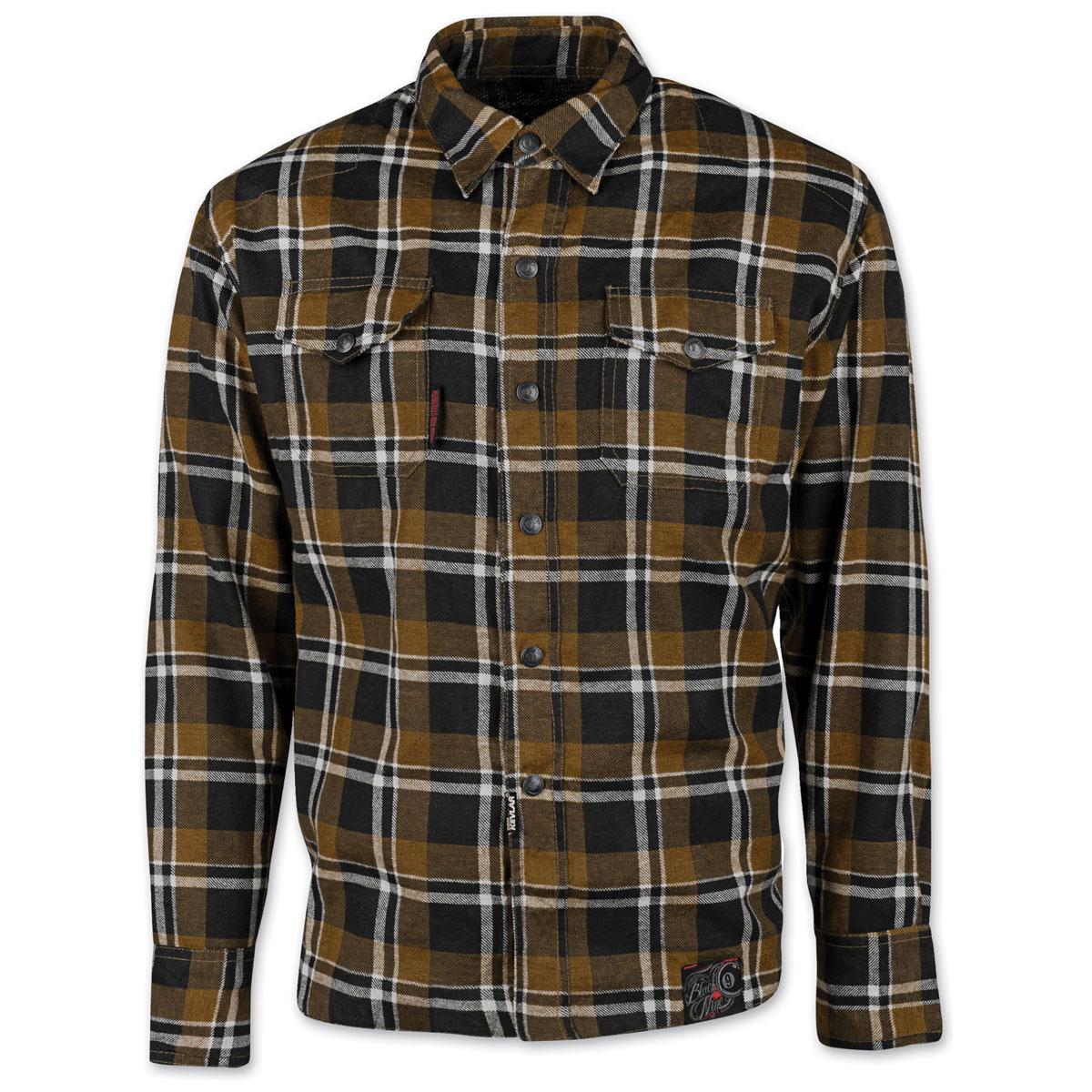 Speed and Strength Men's Black Nine Brown Flannel Moto Jacket