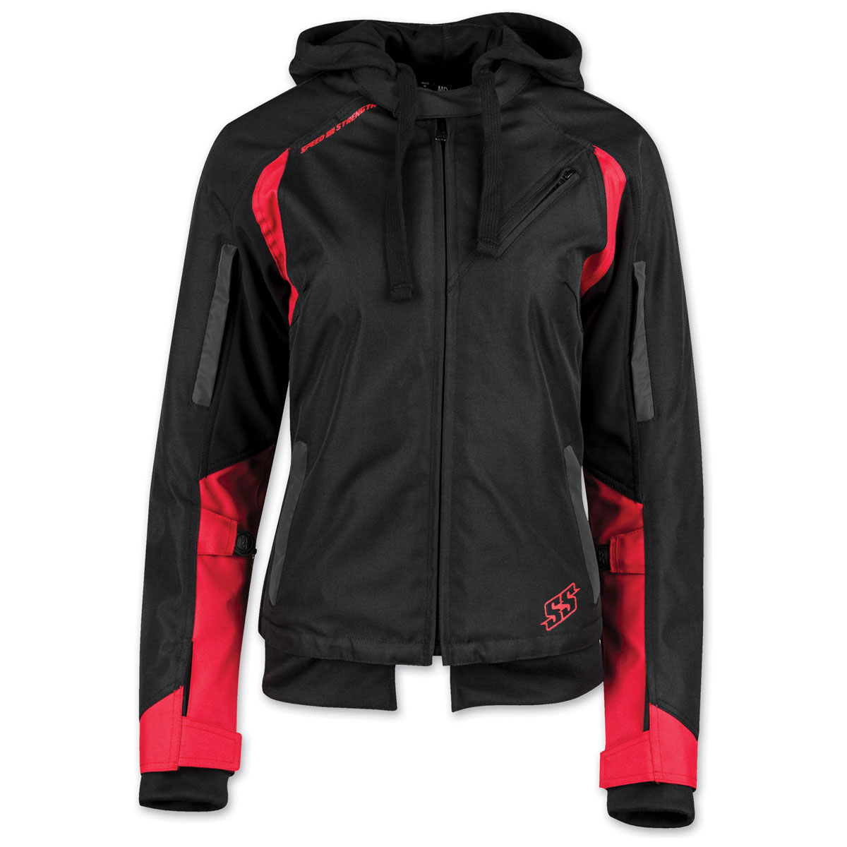Speed and Strength Women's Spell Bound Black/Red Textile Jacket