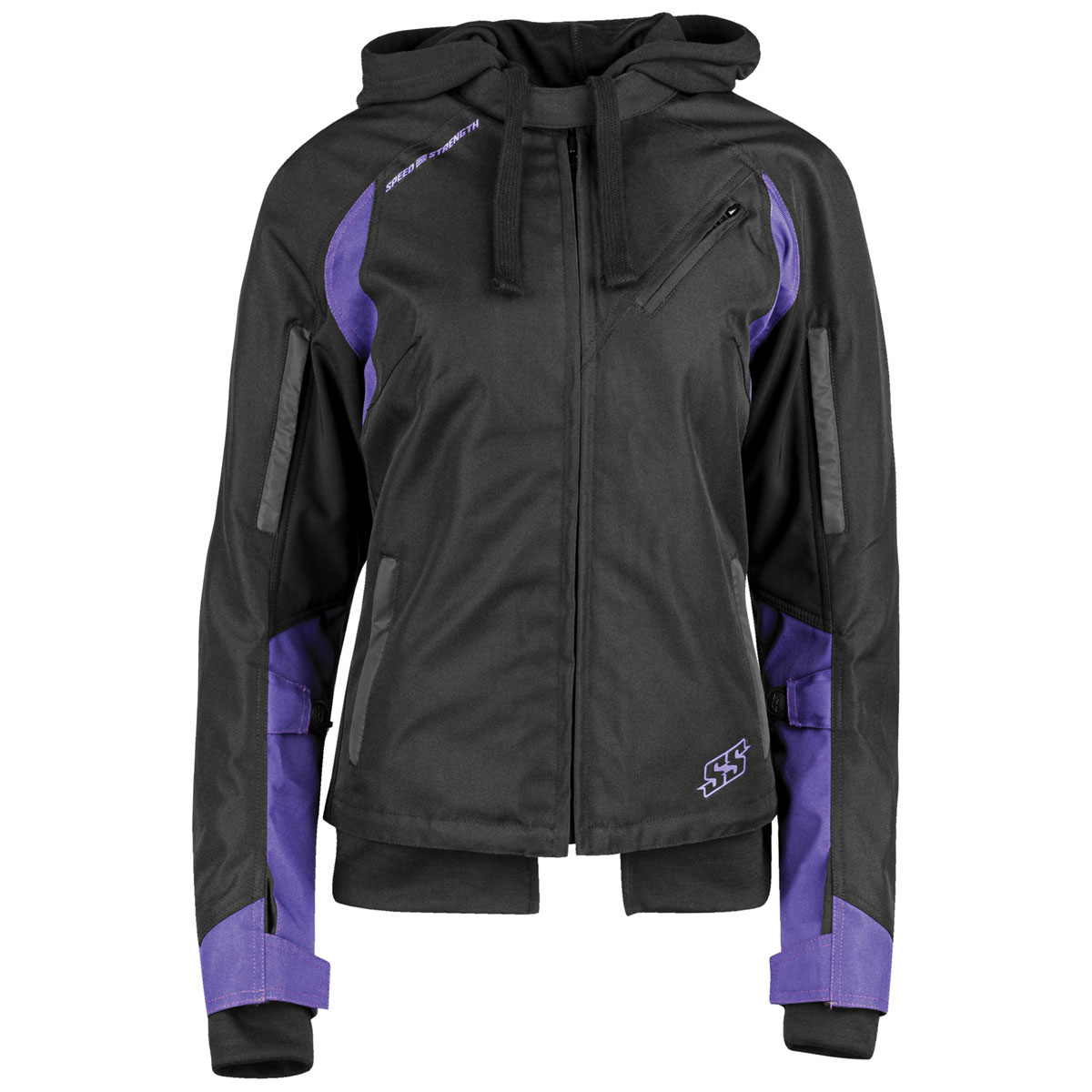 Speed and Strength Women's Spell Bound Black/Purple Textile Jacket