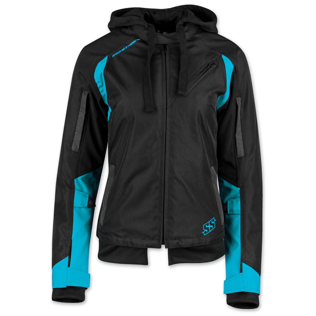 Speed and Strength Women's Spell Bound Black/Teal Textile Jacket