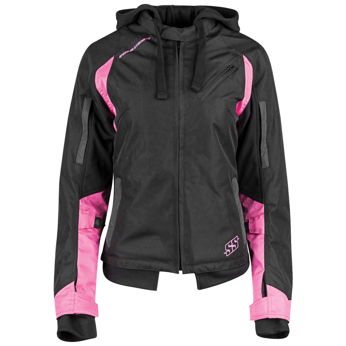 Speed and Strength Women's Spell Bound Black/Pink Textile Jacket