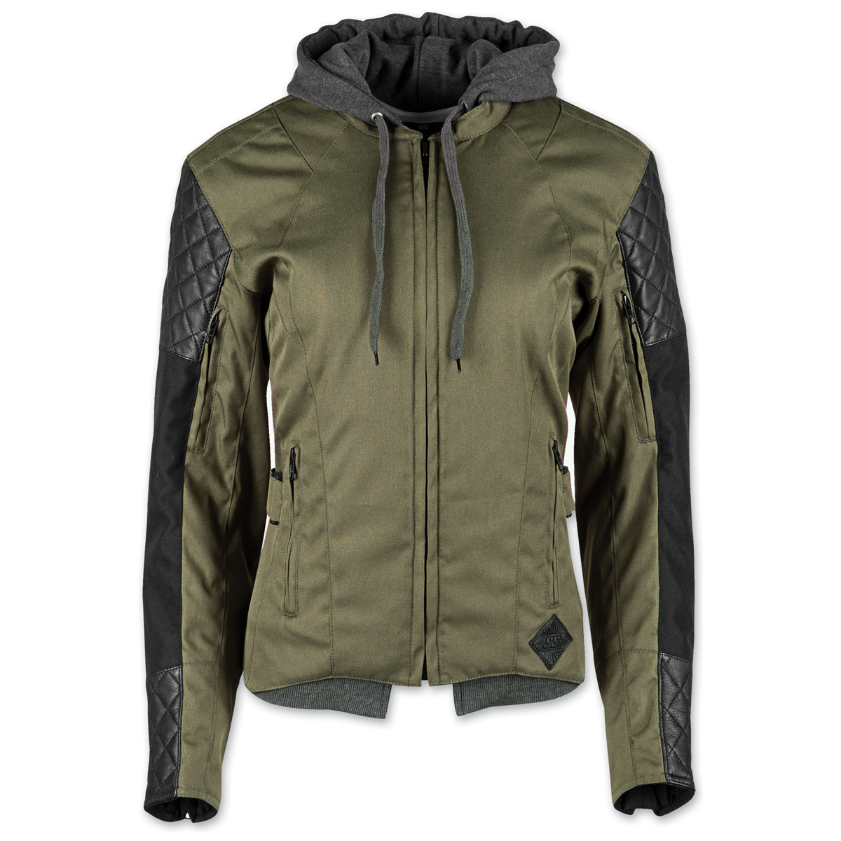 Speed and Strength Women's Double Take Olive Textile/Leather Jacket