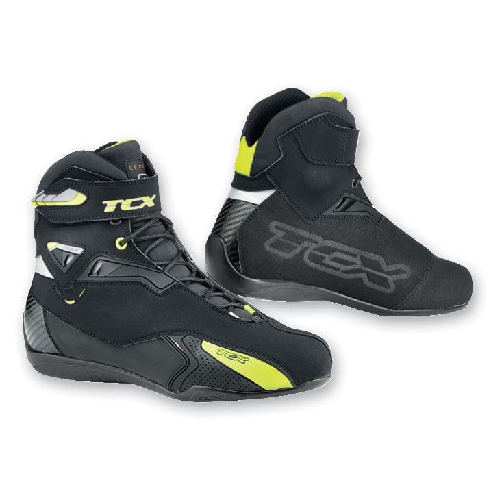 TCX Men's Rush Waterproof Black/Yellow Boots