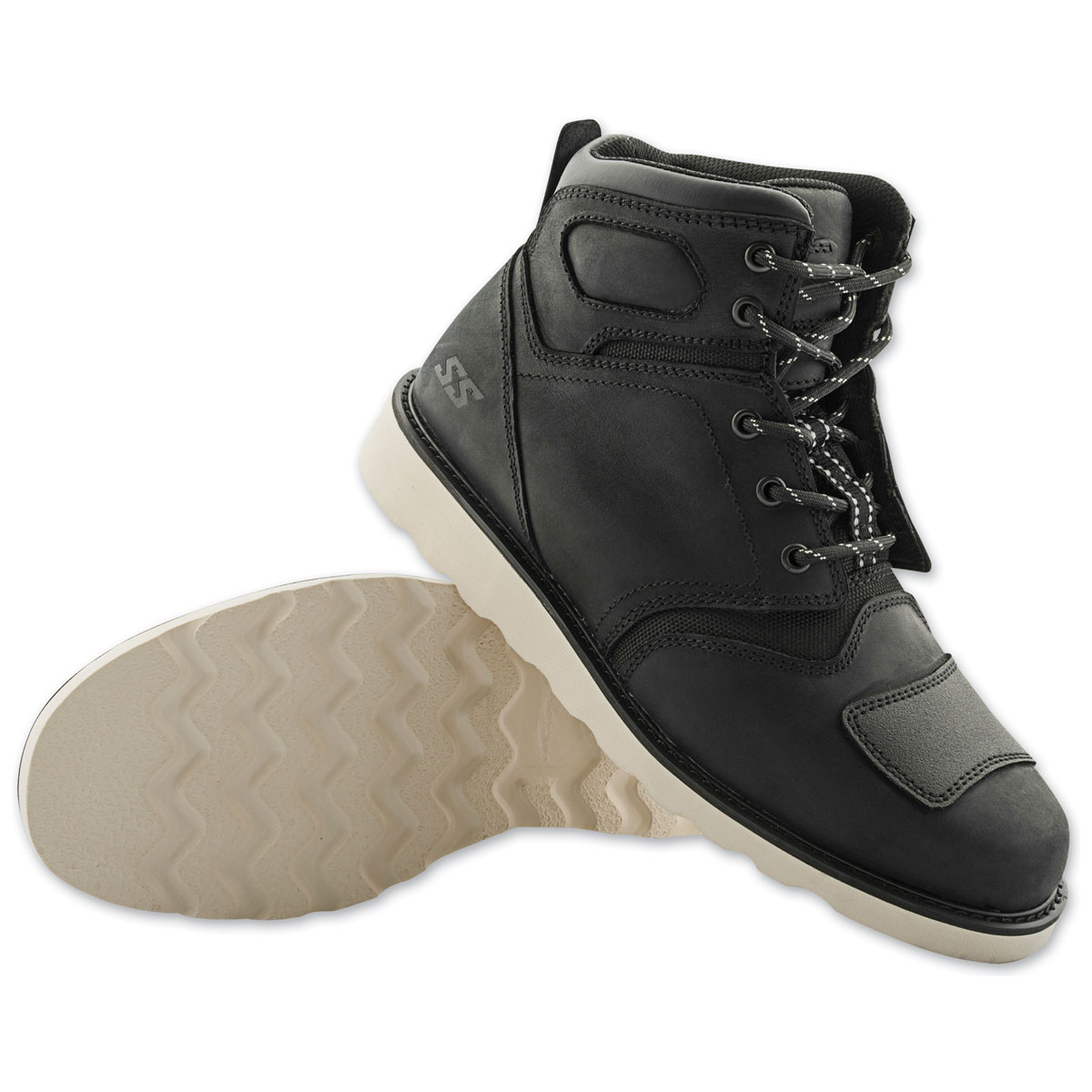 Speed and Strength Men's Dark Horse Black Leather Boots