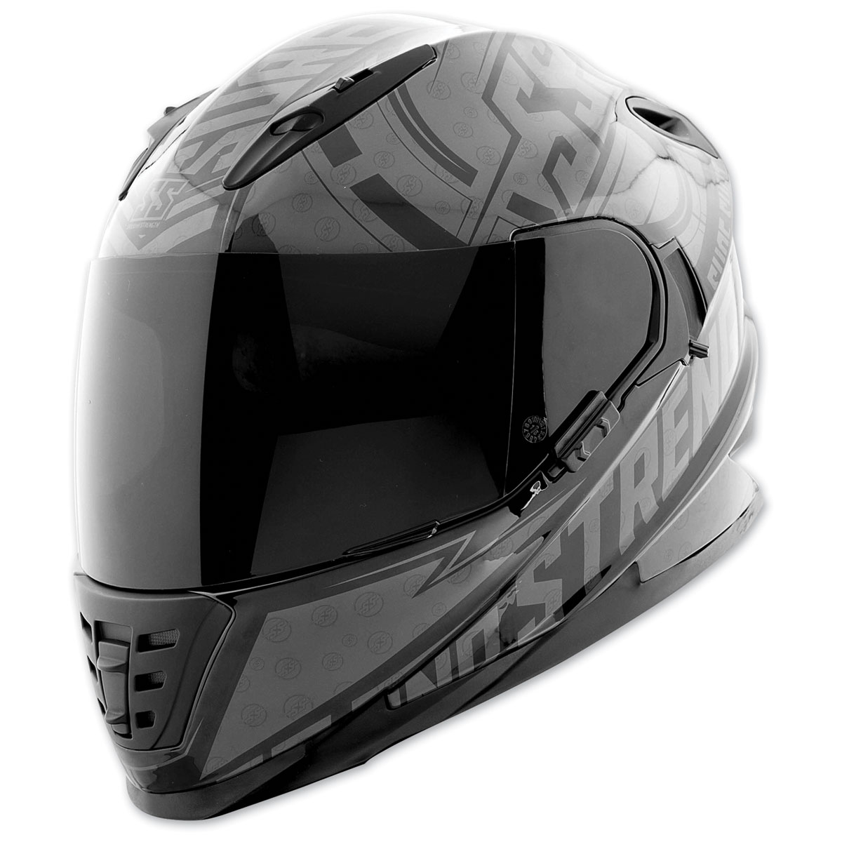 Speed and Strength SS1600 Sure Shot Black/Charcoal Full Face Helmet