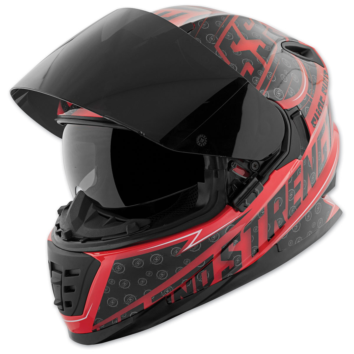 Speed and Strength SS1600 Sure Shot Red/Black Full Face Helmet