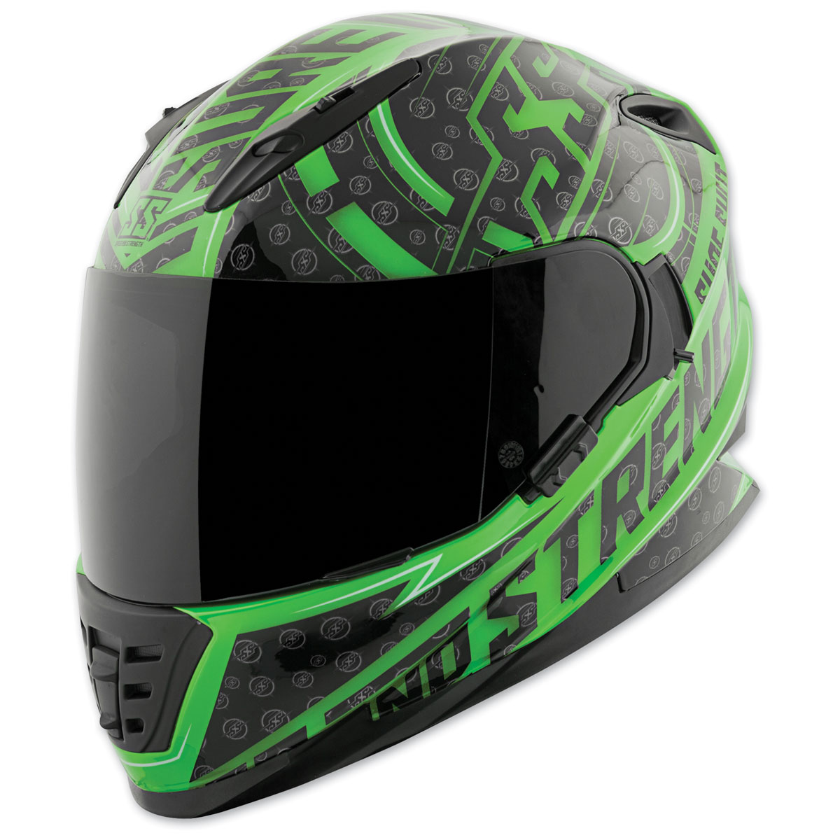 Speed and Strength SS1600 Sure Shot Green/Black Full Face Helmet