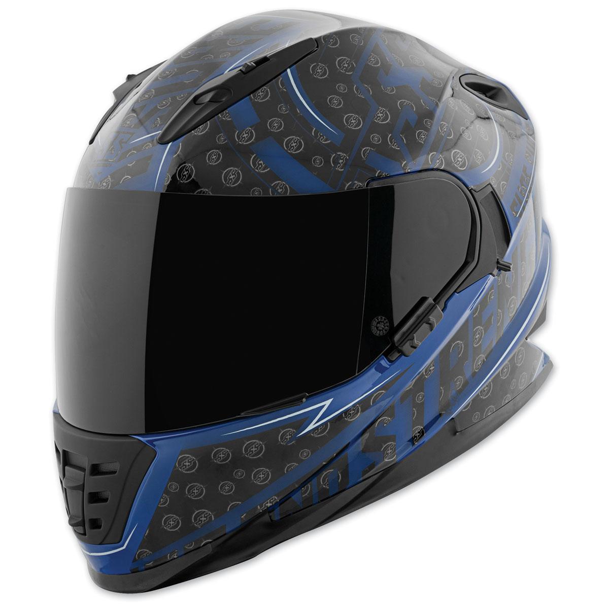 Speed and Strength SS1600 Sure Shot Blue/Black Full Face Helmet