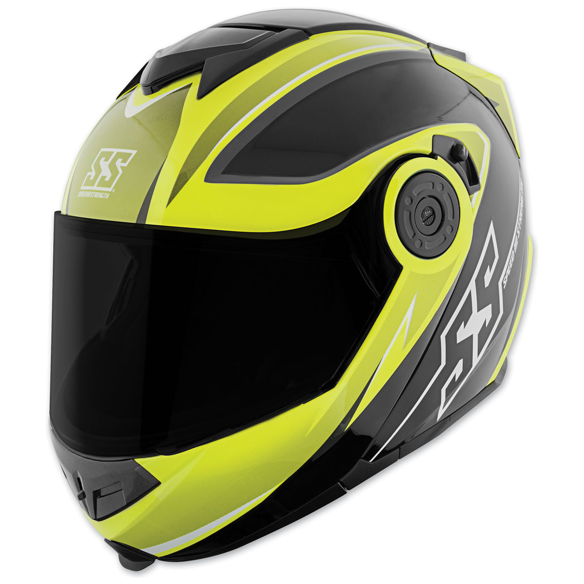 Speed and Strength SS1710 Split Decision Hi-Viz/Black Modular Helmet