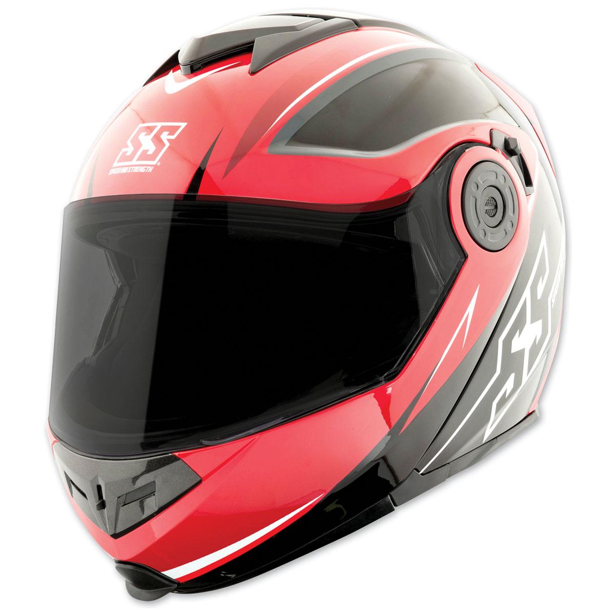 Speed and Strength SS1710 Split Decision Red/Black Modular Helmet
