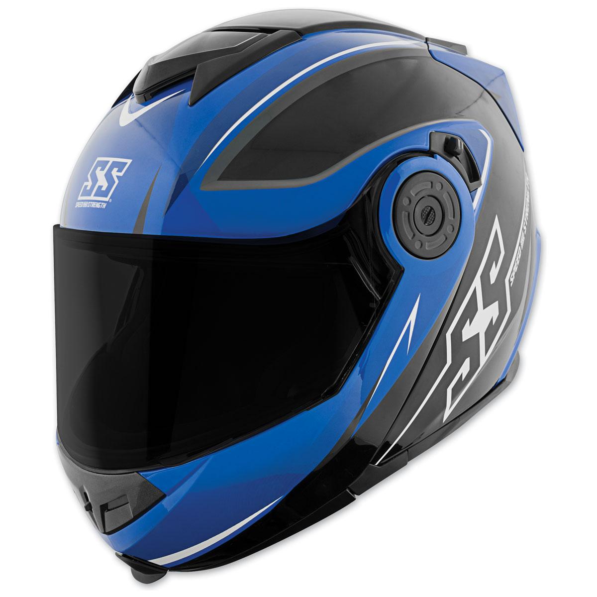 Speed and Strength SS1710 Split Decision Blue/Black Modular Helmet