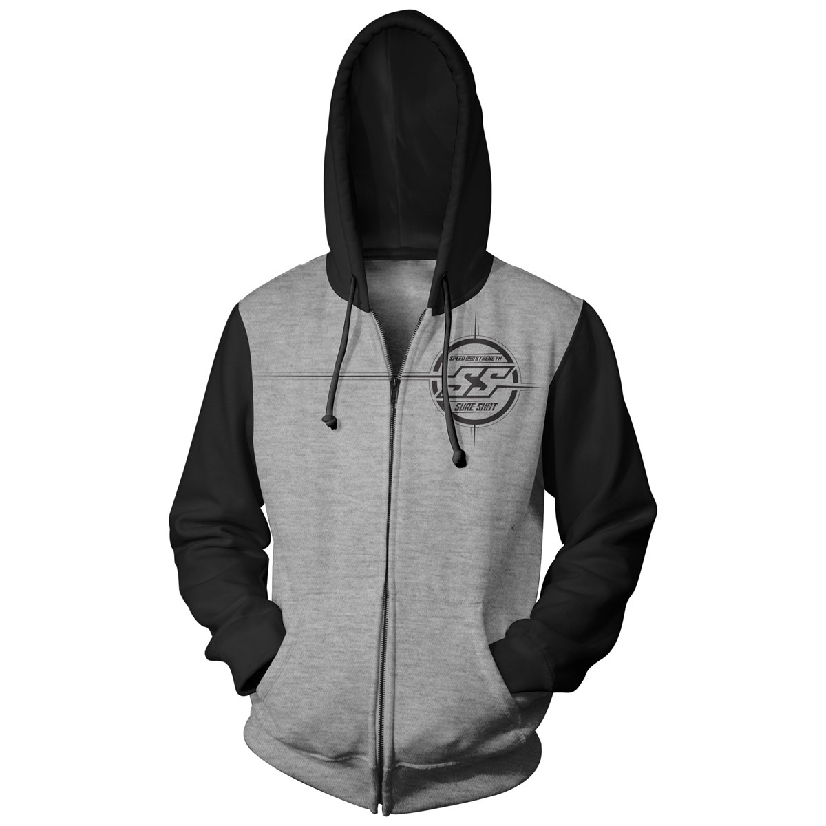 Speed and Strength Men's Sure Shot Gray/Black Hoody