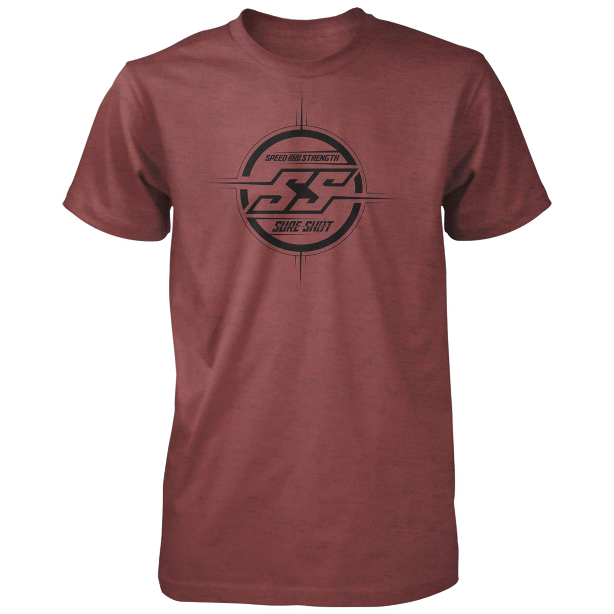 Speed and Strength Men's Sure Shot Red T-Shirt