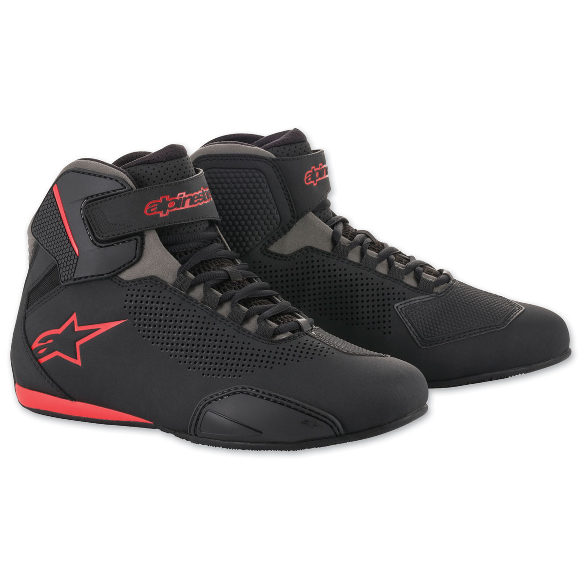 Alpinestars Men's Sektor Vented Black/Gray/Red Shoes