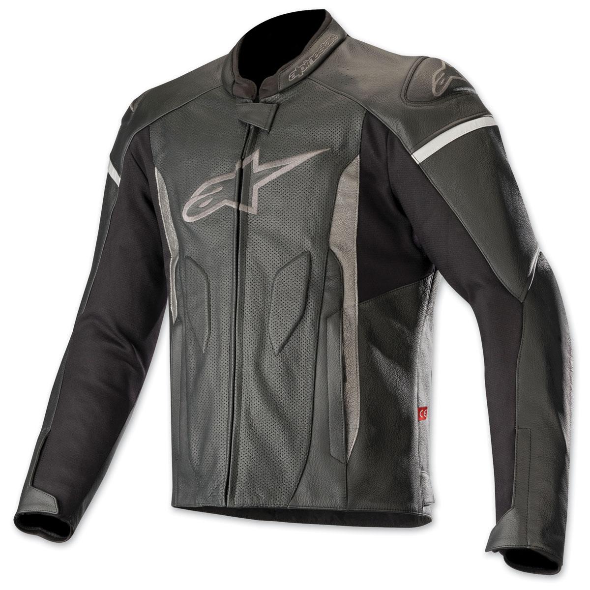 Alpinestars Men's Faster Airflow Black/Black Leather Jacket