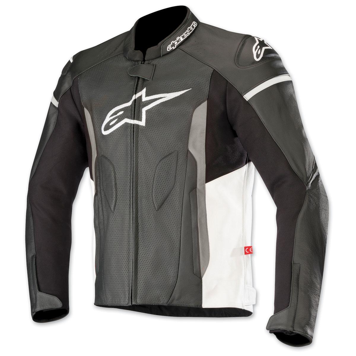 Alpinestars Men's Faster Airflow Black/White Leather Jacket