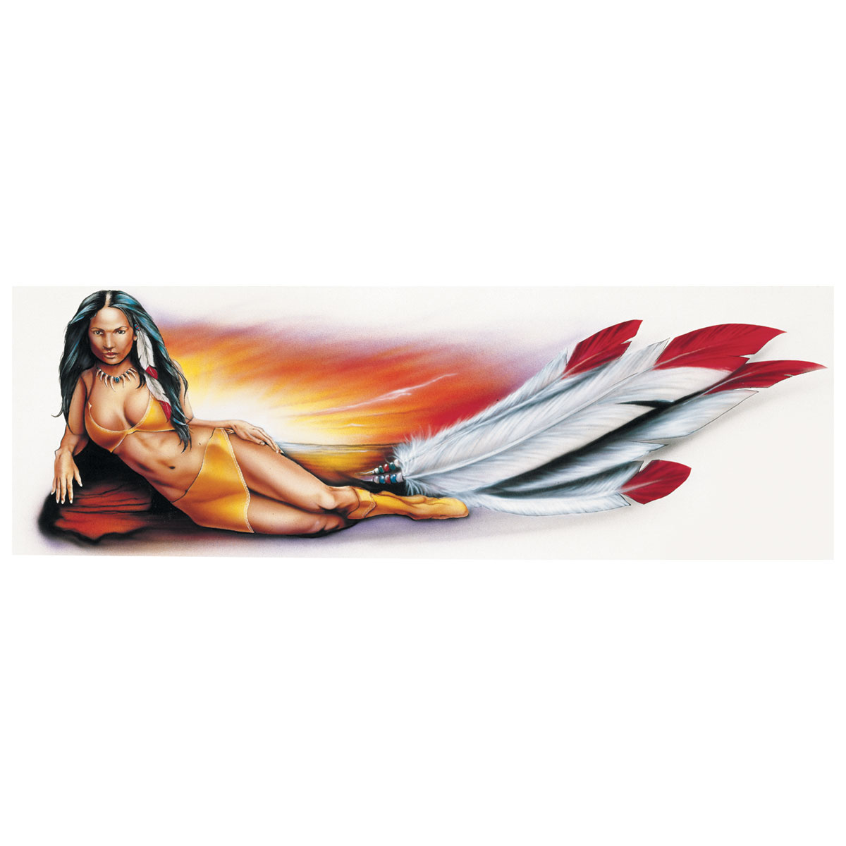 Lethal Threat Decal: Indian Girl, Right Hand