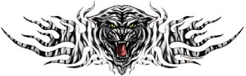 Lethal Threat Decal: White Tiger Attack