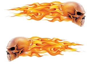 Lethal Threat Flames Trailer Decal Set