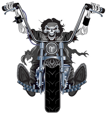 Lethal Threat Chopper Rider Decal