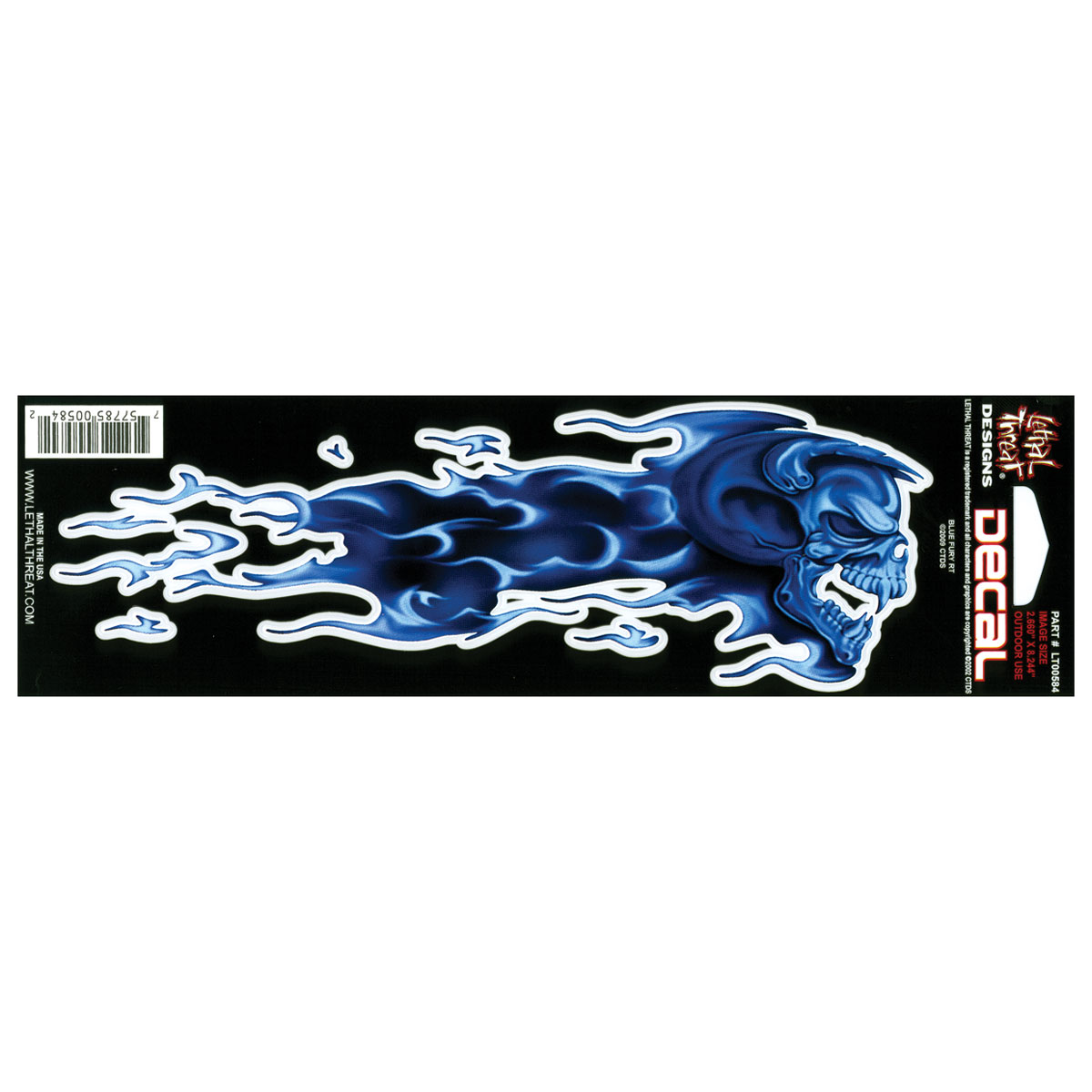 Lethal Threat Right Blue Fury Decal - Right