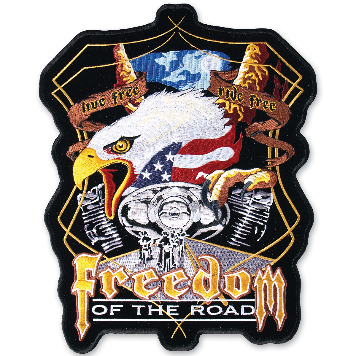 Freedom of the Road Embroidered Patch